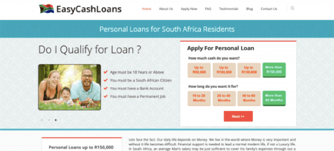 EasyCashLoans - Loans up to R150.000