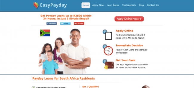 EasyPayday - Loans up to R2.500