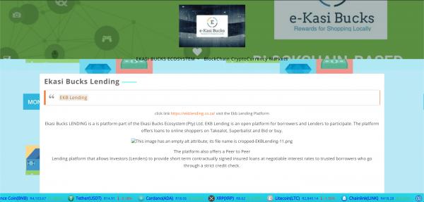 EKASI BUCKS ECOSYSTEM (Pty) Ltd