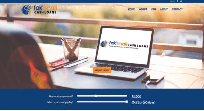 Fak'imali Cash Loans - Loans up to R2.500