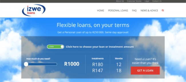 Izwe Loans - Loans up to R250.000
