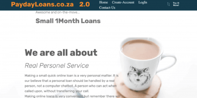 PaydayLoans 2.0 - Loans up to R1.000