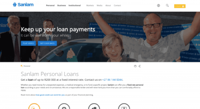 Sanlam - Loans up to R200.000