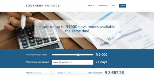 Southern Finance - Loans up to R4.700