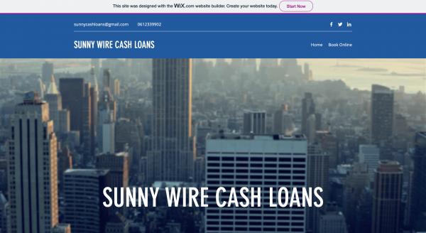 Sunny Wire Cash Loans Cc