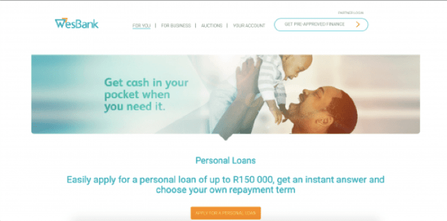 WesBank - Loans up to R150.000